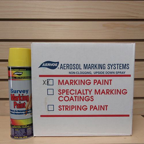 Aervoe Fluorescent Yellow Marking Paint  (case of 12) 1
