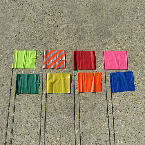 "Presco 30"" Yellow Marking Flag (case) 3"