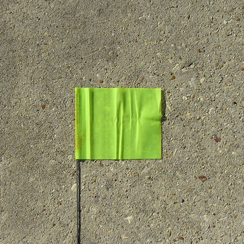 "Presco 21"" Lime Green Marking Flag (case) 1"