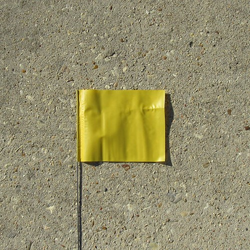 "Presco 30"" Yellow Marking Flag (case) 1"