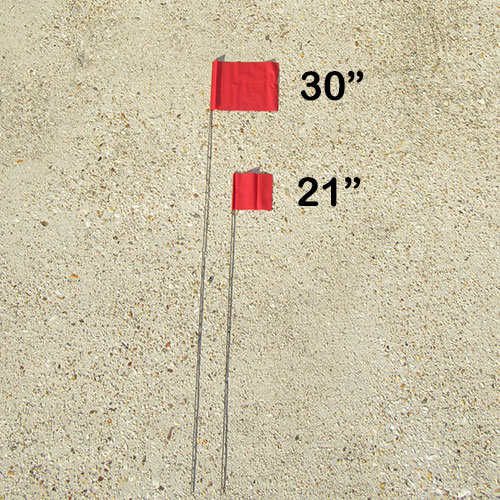 "Presco 30"" Pink Marking Flag (bundle) 2"