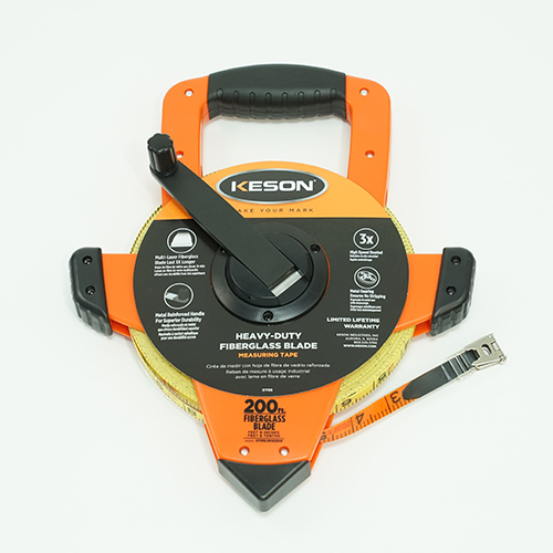 Keson OTRS1810200 200 Foot Fiberglass Tape Measure 1
